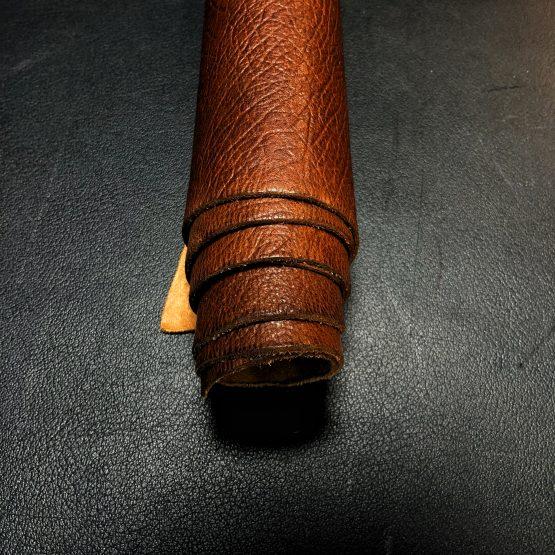 Veg Tan Embossed Brown Leather