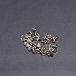 Collar Button Stud Silver 5mm