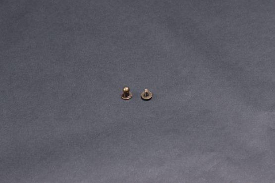 Collar Button Stud Old Brass 5mm