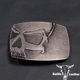 Metal Belt Buckle - Deadman Skull