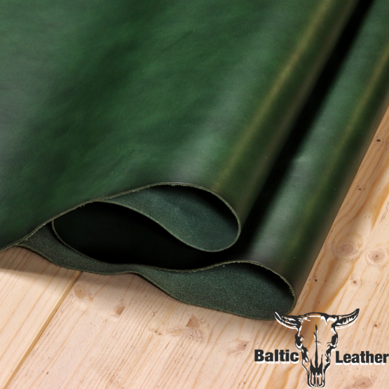 Smooth Oily - Emerald Green Leather